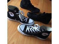 Two Pairs of Barely Worn Converse Size 5 For Sale !