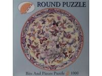 1000 PIECE JIGSAW PUZZLE - ROUND PUZZLE, BITS AND PIECES PUZZLE.