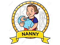 Nanny available before 2pm/after 7pm weekdays. And all times on the weekend