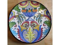 Hand Painted One Off Pintado a Mano Plate