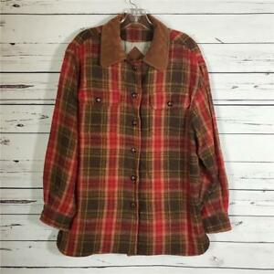 Vintage WIlli Smith Willi Wear Sport Women's Thick Plaid Outdoor Jacket Shirt S