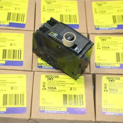 One New Square D Qo2100 2p 100 Amp Circuit Breaker Qo2100c Qo2100cp More Avail
