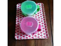 2 Sistema Lunch Box Containers and a Cute Strawberry Tray