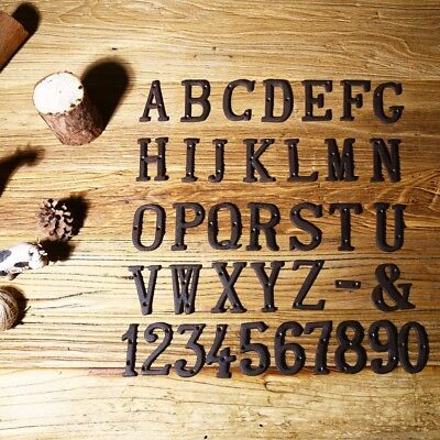 Metal Letters Numbers Cast Iron Decoration House Sign Doorplate DIY Cafe Wall](Diy Letters)