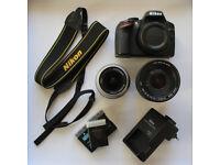 Nikon D3200 + Sigma 18-200 + Nikorr 18-55 Lenses KIT