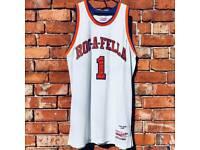 """Roc-A-Fella"" Mitchell & Ness Jay-Z New York Knicks Basketball Jersey | Rare"