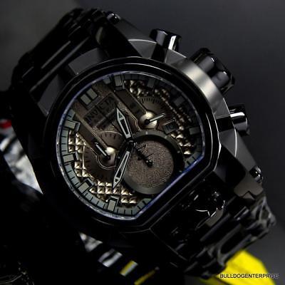 Invicta Reserve Bolt Zeus Magnum Swiss Steel Black Combat Dual Dials Watch New