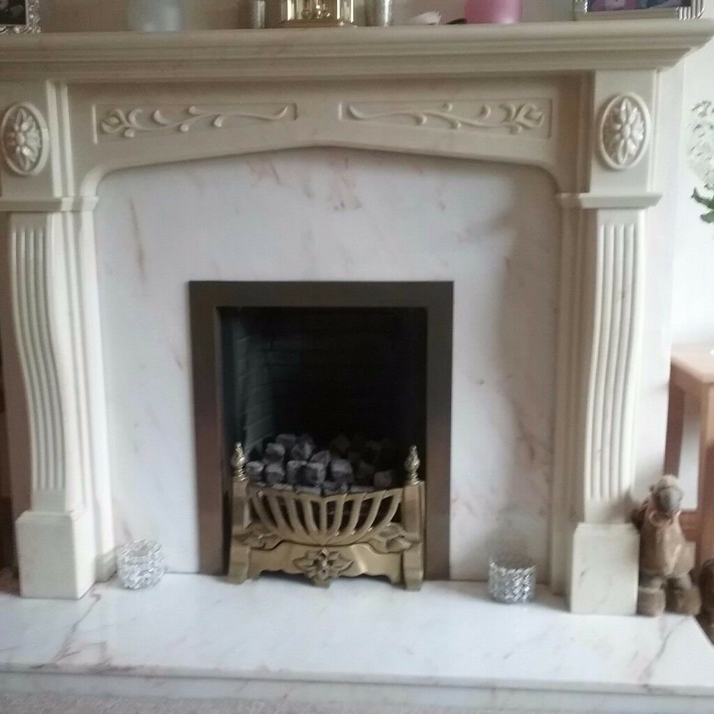 marble fireplace and gas fire excellent condition in