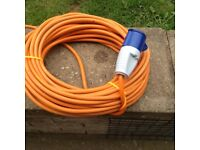 Caravan hook up cable 25 metres with 5 metre home extension