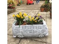 Retro Stone VW Camper Van Planter