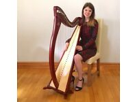 Aberdeenshire harpist Sabrina Carter available for hire