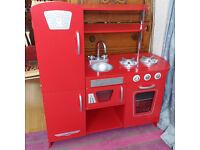 Kidkraft red toy play kitchen