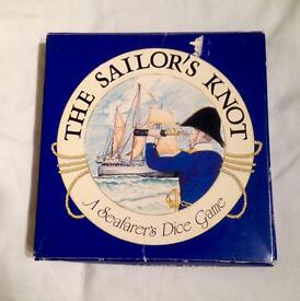 PAST TIMES THE SAILOR'S KNOT. A SEAFARER'S DICE GAME. COMPLETE AND GOOD CONDITION