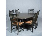 Ercol Single Pedestal Extending Dining Table Chairs Available seperately