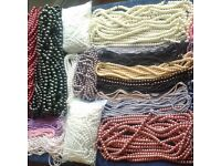 201 Strands Glass Pearls. (17.2 KG in weight) Various sizes/colours