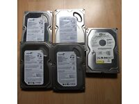 Formatted IDE hard drives. 5x 160gb in very good condition and without errors £25