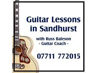 Guitar Lessons in Sandhurst - Special Offer for September - First two lessons at half-price!!