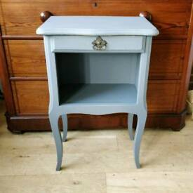 Vintage french bedside table, side table, bedside locker