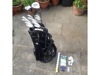 Set of Wilson Right Handed Golf Clubs, Carry Bag and Accessories