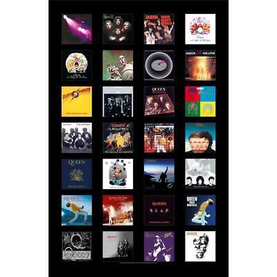 OFFICIAL LICENSED - QUEEN - ALBUMS TEXTILE POSTER FLAG ROCK FREDDIE MERCURY