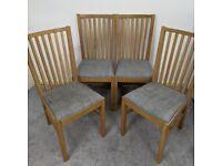 IKEA Dining Chairs NORRNÄS Chair, oak/Isunda grey x4