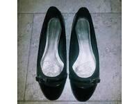 Black Patent leather Flats