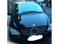 Mercedes Viano, 2008 (08) Black MPV, Automatic Petrol, 75,000 miles