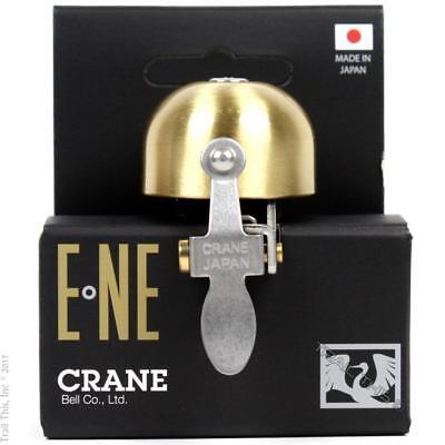 Crane E-Ne Scotch Brite Matte Brass Bike Bell fits 22mm to 31.8mm Handlebars