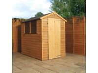 6 x 4 wooden shed with windows or windowless