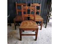 3 Georgian chairs