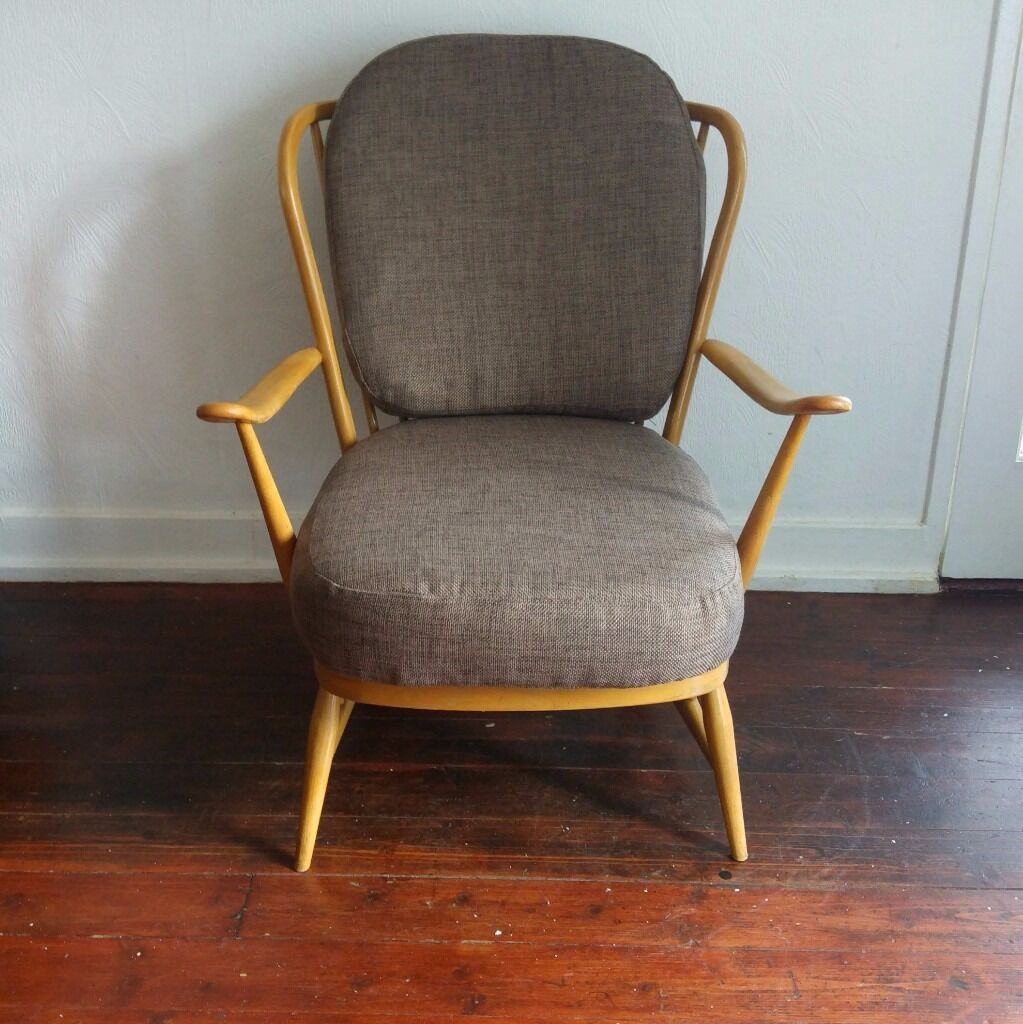 Ercol low back easy chair