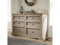 Chest of Drawers Pine 6 Drawer