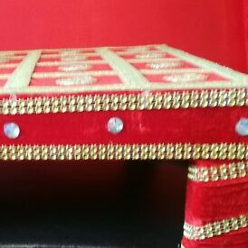 Embroidered Indian Wedding Stool