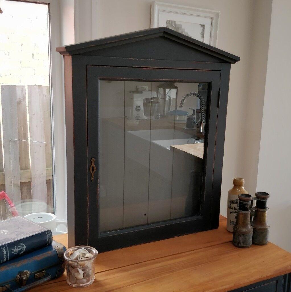 Vintage Wooden Display Cabinet. Glass Front Display Box. Shop Display. Menu  Display.
