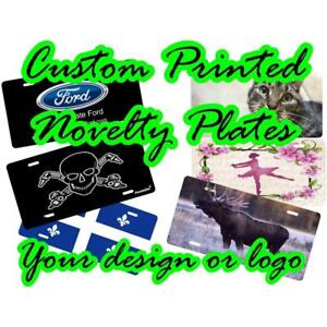 Custom Printed Novelty Auto Plates for Gift Shops,  Business Promotional