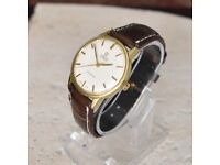 Vintage Men's Omega Seamaster Automatic Watch: Cal 552: 24 Jewels: Gold plated 40 Microns