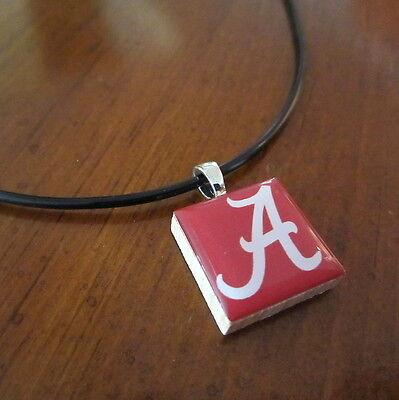 University of ALABAMA CRIMSON TIDE TILE CHARM PENDANT NECKLACE LifeTiles jewelry