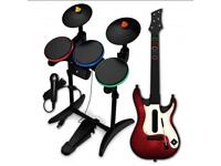 Band Hero - Drum kit, Guitar, Control and Mic - XboX 360