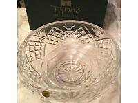 Tyrone Irish Crystal 9inch bowl