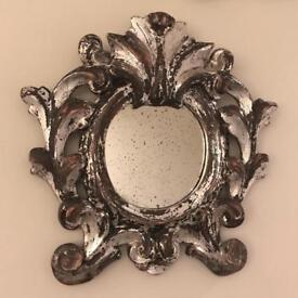 Pair of Ital. 19th C Mirrors, silver leaf
