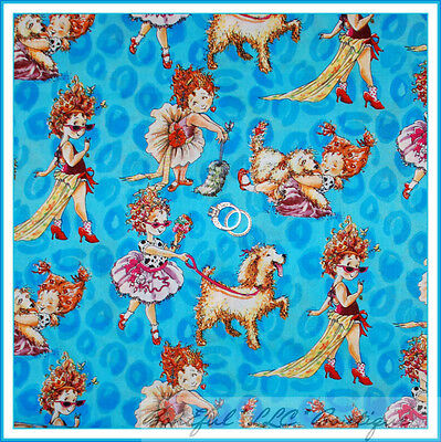 BonEful Fabric FQ Cotton Quilt VTG Fancy Nancy Dog Boutique Girl Costume Dress L