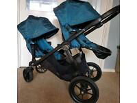 Baby Jogger City Select double pushchair with accessories