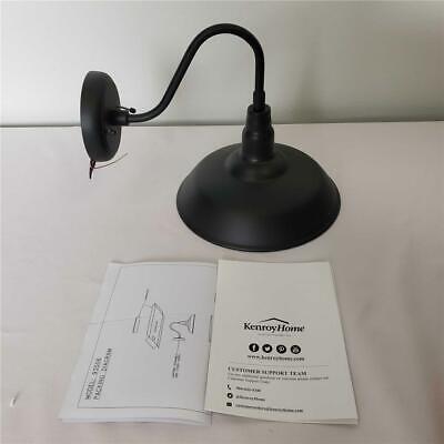 "= Kenroy Home 1 Light Black Outdoor Wall Lantern Sconce 10"" X 10"" 93506BL"