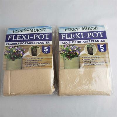 = Lot of 2 Ferry Morse Flexi-Pot Flexible Portable Planters 5 Gal TPOT-24 NEW