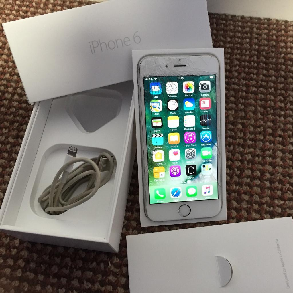iPhone 6 16gb EE networkin Plymouth, DevonGumtree - iPhone 6 16gb in silver, locked to EE network. Fully working order. Not in the best condition, cracked screen and scratch marks to the back, edges and sides. Apart from cosmetics the iPhone is fully functional with no faults whatsoever. iPhone comes...