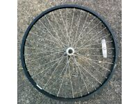 "Front Mountain Bike Wheel 26"" Kin Lin Rim"