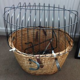 Cyclist's Dog Basket for a small dog