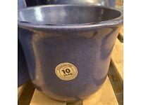 frost proof blue pots