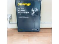RRP: £50 Challenge Chrome Pedestal Fan - 16 inch
