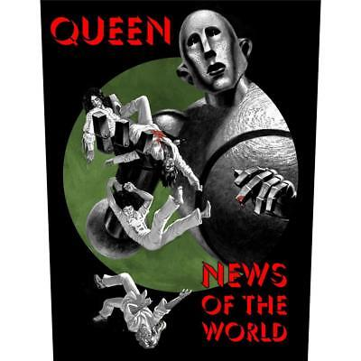 OFFICIAL LICENSED - QUEEN - NEWS OF THE WORLD BACK PATCH ROCK FREDDIE MERCURY